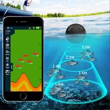 Erchang XA02 Fish Finder Per Fihsing 48m/160ft Wireless Profondità Ecoscandaglio Mare Lago Portable Sonar In Russo magazzino