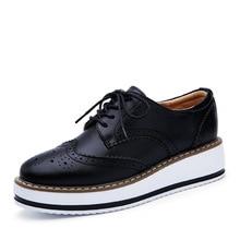 2021 Spring Autumn Flat Oxford Shoes For Women Platform Shoes Woman Brogue Patent Leather Flats Lace Up Women Shoes Female