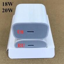 10 قطعة/الوحدة 18W 20W PD USB نوع C شاحن محول ل iP 11 برو XR X XS ماكس 8 زائد ل مع التجزئة مربع