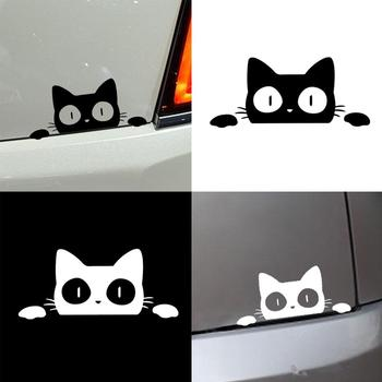 Reflective Peeking Cat Animal Car Styling Decorative Stickers Auto Window Decals image