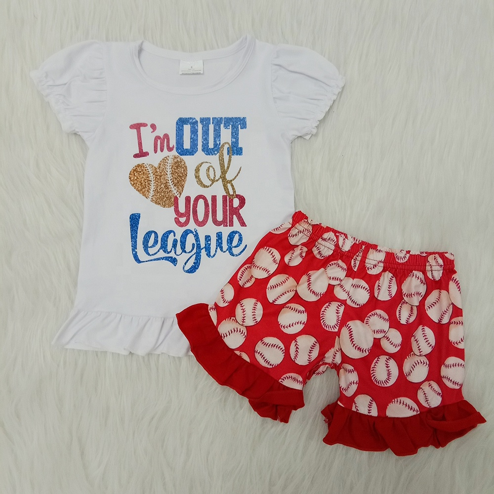 Toddler Baby 4th of July Sleeve Wave Print Short Tutu Dress+Fashion Cute Headbands Set Outfit