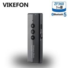 Bluetooth Audio Receiver Zender V5.0 Draadloze Audio Edr Dongle 3.5 Mm Jack Aux 3 In 1 Adapter Voor Thuis Tv hoofdtelefoon Pc Auto