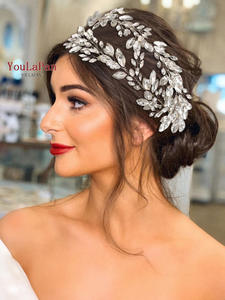 Headband Headpieces Tiaras TOPQUEEN Rhinestone Bridal-Crowns HP304
