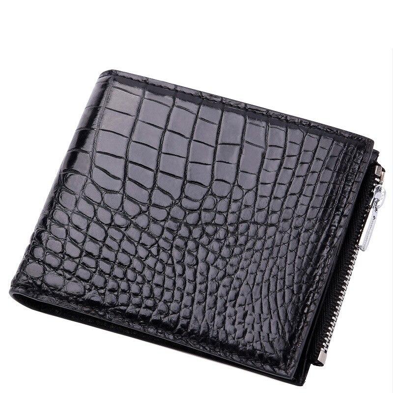 Крокодиловый пакет мужские кошельки мужские короткие деньги нулевой кожи Досуг Деньги Кошельки держатели натуральная сумка настоящий удобный кошелек