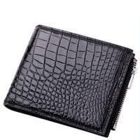 Crocodile Package Man wallets mens Short Fund Zero Leather Leisure Time Money Coin purses holders Genuine bag real handy wallet