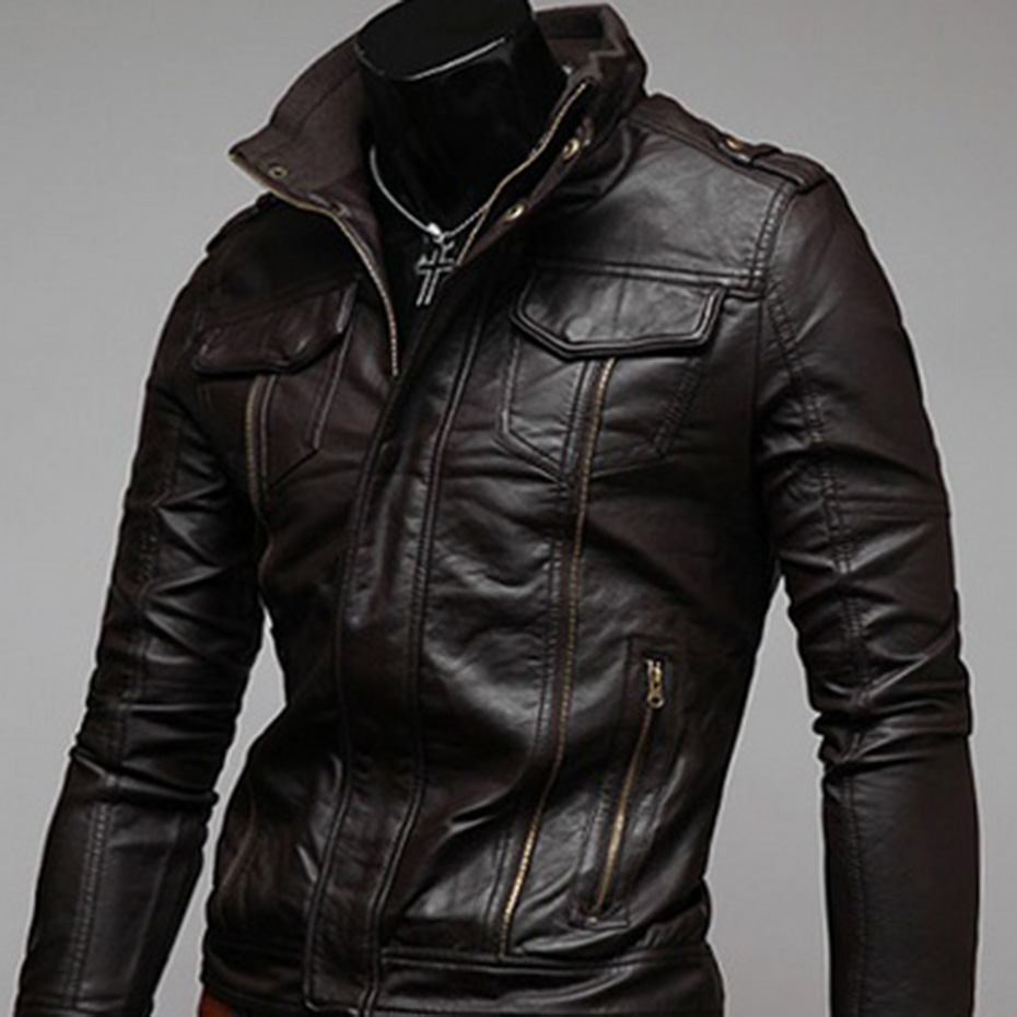 Zogaa Motorcycle Leather Jacket Men 2019 Autumn Winter Men's Leather Jacket Jaqueta De Couro Masculina Mens Leather Coats