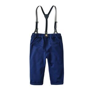 Image 4 - Conjunto de roupas de outono para meninos, roupas masculinas de bebê recém nascido com alças, body para meninos e bebês, roupas infantis para festa de meninos