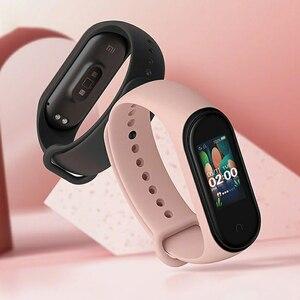 Image 3 - En STOCK Original Xiaomi Mi bande 4 musique Smart Miband 4 Bracelet fréquence cardiaque Fitness 135mAh couleur écran Bluetooth 5.0 bracelets
