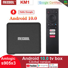 Mecool Google Zertifiziert Android 10,0 TV Box KM1 ATV Amlogic S905X3 2T2R WiFi Smart Androidtv Premium Media Player Prime Video