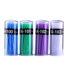 100 шт./упак. одноразовые ватные палочки для наращивания ресниц Micro хлопковая щетка-тампон для ногтей гель для снятия Маникюрный Инструмент