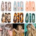 1/2/3 PCS Women Fashion Leopard Acetate Geometric Hair Clips Vintage Hairpins Barrettes Hair Accessories All Match Hair Clips