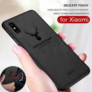 Textura de tela de venado de Navidad 3D, suave TPU, funda magnética para coche para Xiaomi Redmi 8 8A, carcasa con placa magnética incorporada para Redmi 8 8A