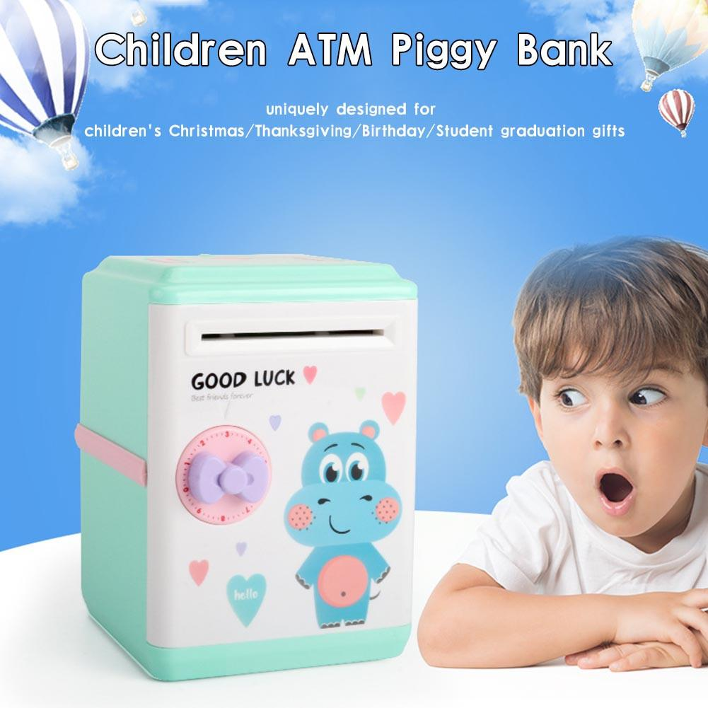 Innovative ATM Piggy Bank Intelligent Automatic Opening Password Vouchers New Exotic Children's Gift Toys