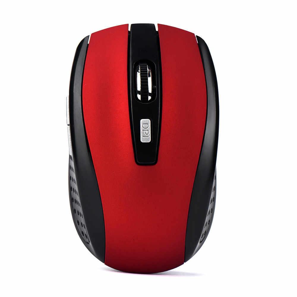 2.4 GHZ Wireless Gaming Mouse USB Receiver Pro Gamer untuk PC Laptop Desktop Universal Peripheral Komputer