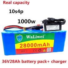 Аккумулятор 36 В 10S4P 28Ah, аккумулятор высокой мощности 1000 Вт 42 в 28000 мАч для электровелосипеда, BMS + зарядное устройство 42 в