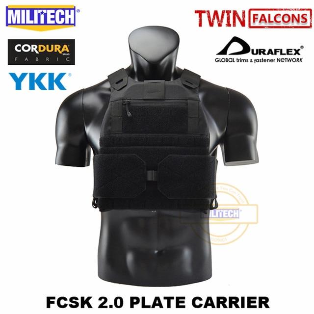 MILITECH FCSK 2.0 Advanced Slickster Plate Carrier Military Combat Tactical Vest Police Body Armor Carrier For 10x12/SAPI/ESAPI 2