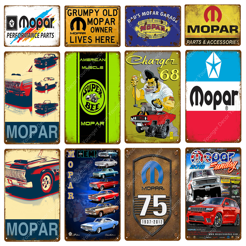 Mopar Parts And Accessories Metal Signs Super Bee Motor Oil Car Garage Decor Vintage Wall Painting Plaque Wall Sticker Poster(China)