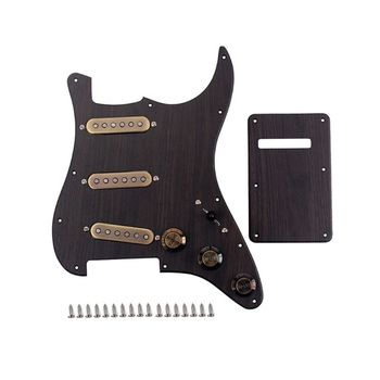 Prewired Pickguard Plate SSS Pickup with Back Cover Set for Electric Guitar 831C
