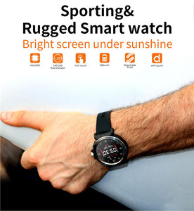 Image 2 - S18 Full Screen Touch Smart Watch IP68 waterproof Men Sports Clock Heart Rate Monitor Smartwatch for IOS Android phone