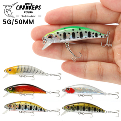 1PCS Minnow Fishing Lure 3D Eyes 50mm 5g  Plastic Hard Bait Artificial Lures Wobbler Crankbait  Winter Sea Fishing Bass Tackle