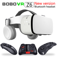 最新ボボvr Z6 vrメガネワイヤレスbluetooth vrゴーグルandroid ios遠隔現実vr 3D段ボールメガネ 4.7  6.2 インチ