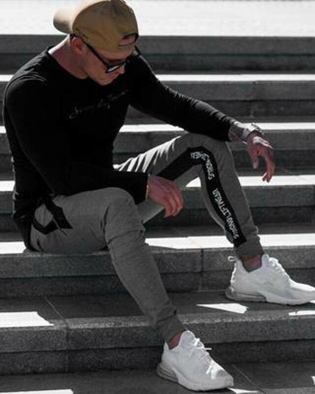 Men's Slim Fit Tracksuit Sport Gym Skinny Jogging Joggers Sweat Pants Trousers
