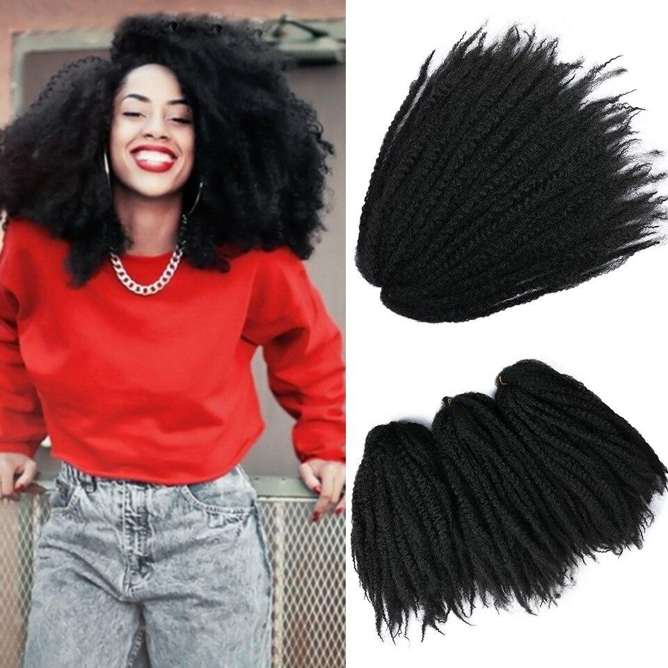 WTB афро кудрявые плетеные волосы крючком Твист марли косы для наращивания волос Синтетические черные вязаные косы для наращивания волос s Косы марли      АлиЭкспресс