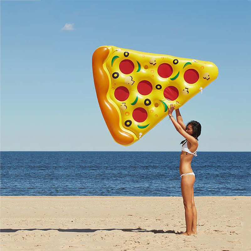 JIAINF Inflatable Float Row Drinks Holder Pizza Shape Red Shell Swim Float Cup Holder Water Mattress For Drinks Cups  Party Toys