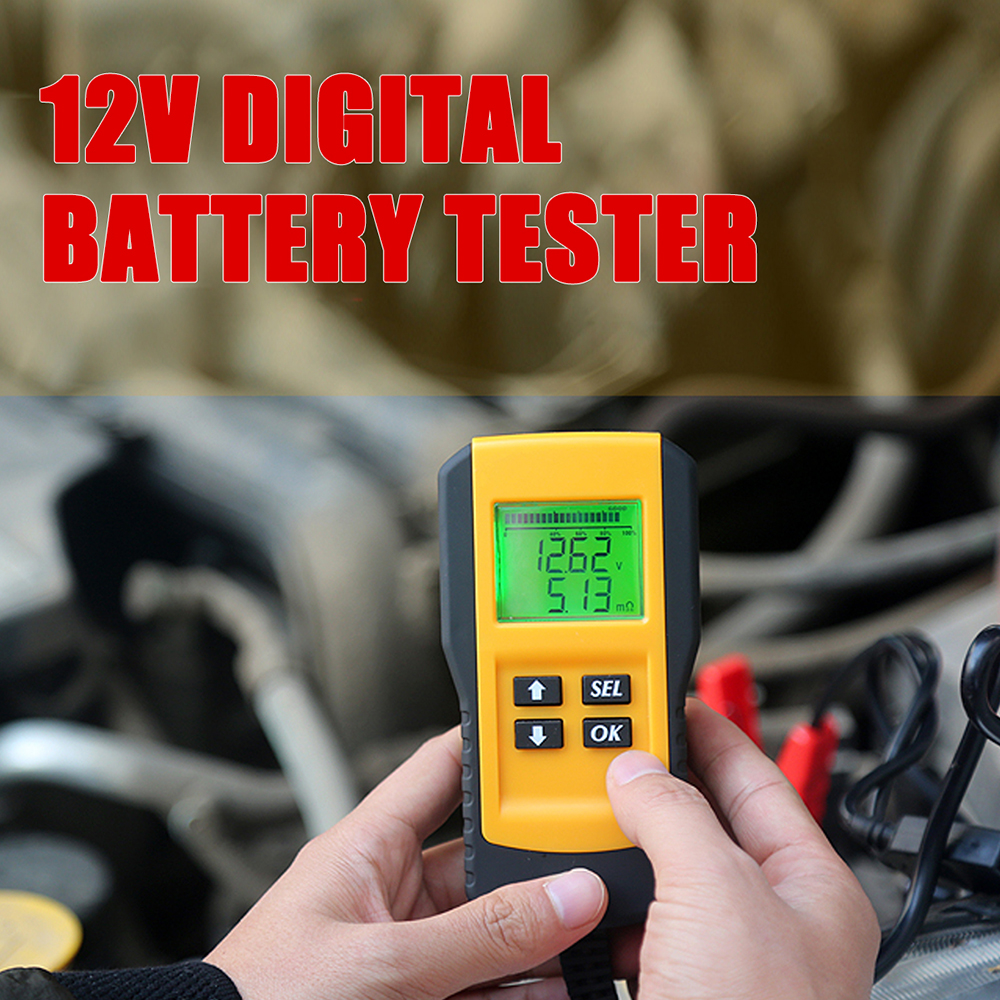 Hot 12V Digital <font><b>Car</b></font> <font><b>Battery</b></font> Tester Automotive Voltage <font><b>Battery</b></font> Load Analyzer Automobile Vehicle <font><b>Battery</b></font> <font><b>Diagnostic</b></font> <font><b>Tool</b></font> 2019 image