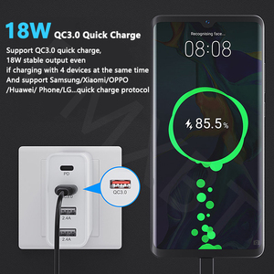 Image 4 - 48W Multi USB PD Charger For Samsung iPhone 11 Huawei laptop QC 3.0 Fast Wall USB Power Charger US EU UK Plug Type C USB Adapter