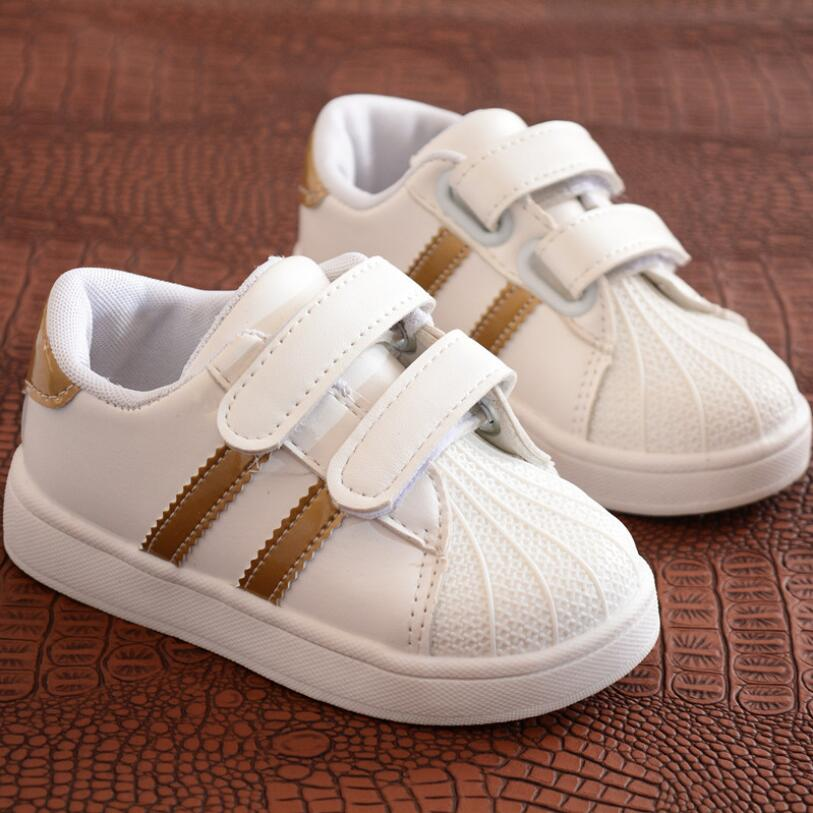 NEW Children Shoes Girls Boys Sport Shoes Antislip Soft Bottom Kids Baby Sneaker Casual Flat Sneakers White Shoes Size 21-30