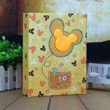 Фотоальбом ручной работы «сделай сам», подарок на день рождения, мультяшный детский альбом с карманами, 5 дюймов, 200 фотографий, 7 дюймов, 100 фо...