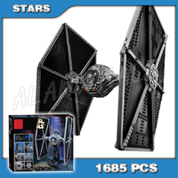 1685pcs Space Wars The Ultimate Collector Universe 05036 Tie Fighter Figure Building Blocks Gifts Kits Compatible with Lago
