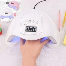 48 Вт Сушилка для ногтей лампа УФ светодиодная портативная маникюра