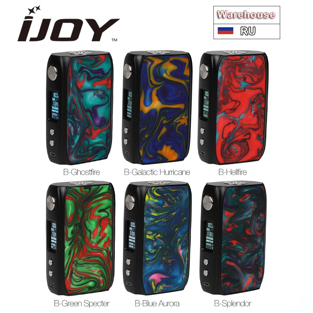 Original IJoy Shogun Univ 180W Box Mod Powered By Dual 18650 Battery Vape Mod Vape Vaporizer E Cig Mod Box Vs Swag 2 / Gen Mod