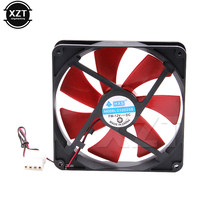 Ventilateur de refroidissement 140mm pour processeur d'ordinateur, refroidisseur silencieux 12V DC, prise d'appareil électronique 4D, radiateur avec coque 14cm
