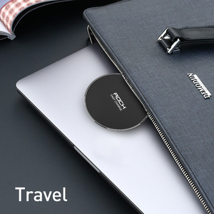 Image 5 - LED Breathing Light 10W Wireless Charger , ROCK Qi Fast Wireless Charging Pad For iPhone X XS 8 Samsung Xiaomi