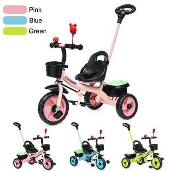 Bambini Bambini Bambino Bicicletta Triciclo 3 Ruote Per Bambini di Scuola Materna Giro In Bicicletta Bambino Trike per 2-6 Anni di Età cintura di Sicurezza del capretto