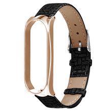 Leather Wristband Adjusted Strap for Xiaomi Mi Band 3 Watch Replacement Android IOS
