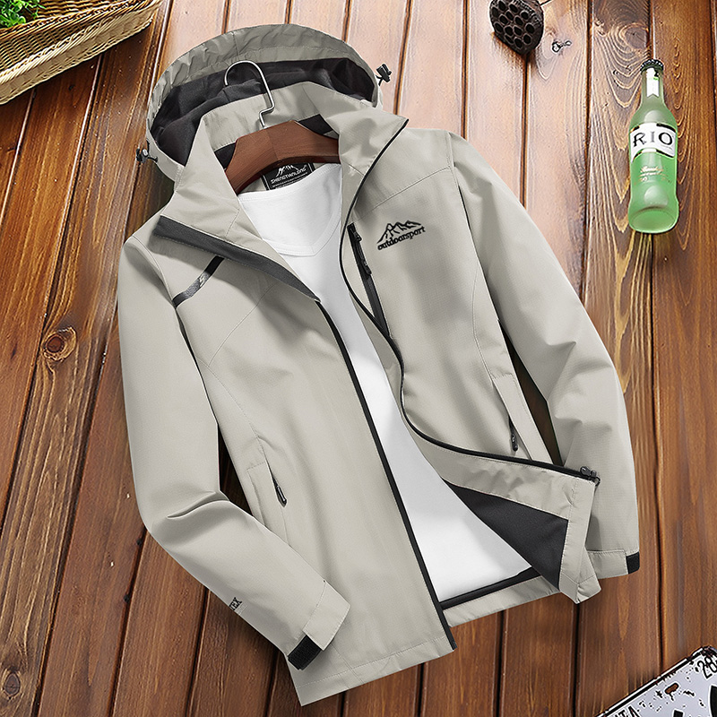 H50bac93471034561bb5a1c5dea446cd26 Women's Casual Waterproof Windproof Jacket Hooded Coat Spring Autumn Breathable Tourism Mountain Windbreaker Jackets Female
