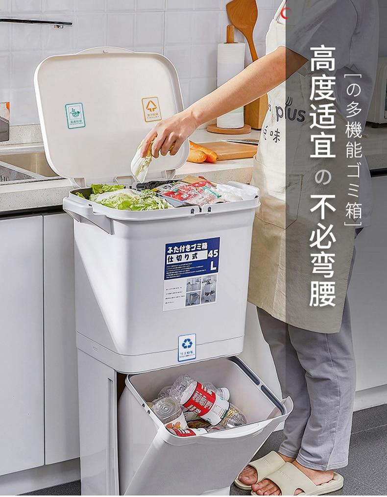 reciclar empilhados classificando lixo bin basurero cocina