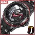 4000146950609 - Reloj de cuarzo Marvel Avengers VENOM, original, autorizado, para hombre, con correa de silicona, resistente al agua, para hombre, m-9116 de lujo