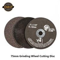 Discos de corte da roda de moedura 75mm lâmina de serra circular para ferramentas abrasivas do disco de corte da fibra do metal