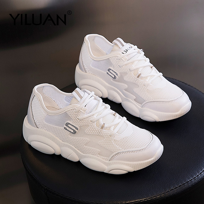 Leather Women's Shoes Spring Summer 2020 New Casual Wild Platform Sports Single Shoes Woman Shallow Mouth White Sneakers Flat