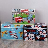 Grande não-tecido tecido dobrável caixa de armazenamento caixas dobrável brinquedos organizador com tampas e alças cesta de armazenamento cesta de lavanderia