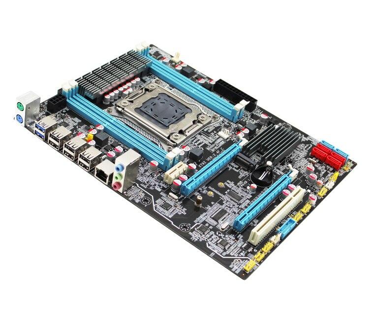 X79 LGA 2011 motherboard ATX SATA3 USB3.0 Dual PCI-E16X M.2 NVME SSD support Four channels DDR3 Xeon E5 2.4F 1620V2 2670 2680v2 7