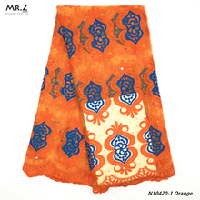 Mr.Z High Quality 2019 African French Net Lace Fabric Embroidered Nigerian Lace Fabric 5Yards Guipure Cord Lace With Stones milk silk nigerian french net lace fabric embroidered stones african lace fabric high quality dubai guipure mesh lace 5 yards