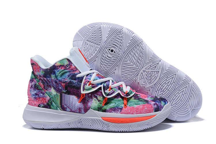 2019 yeni erkek Kyrie V basketbol ayakkabıları Irving 5S siyah sihirli mısır firavunu kamuflaj 5 Zoom spor eğitimi ayakkabı yüksek ank