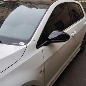 Image 3 - 2PC VW 골프 7 MK7 MK7.5 GTI R GTE GTD 2013   2019 Touran 2016 2017 ABS 측면 후면 미러 커버 교체 캡 셸