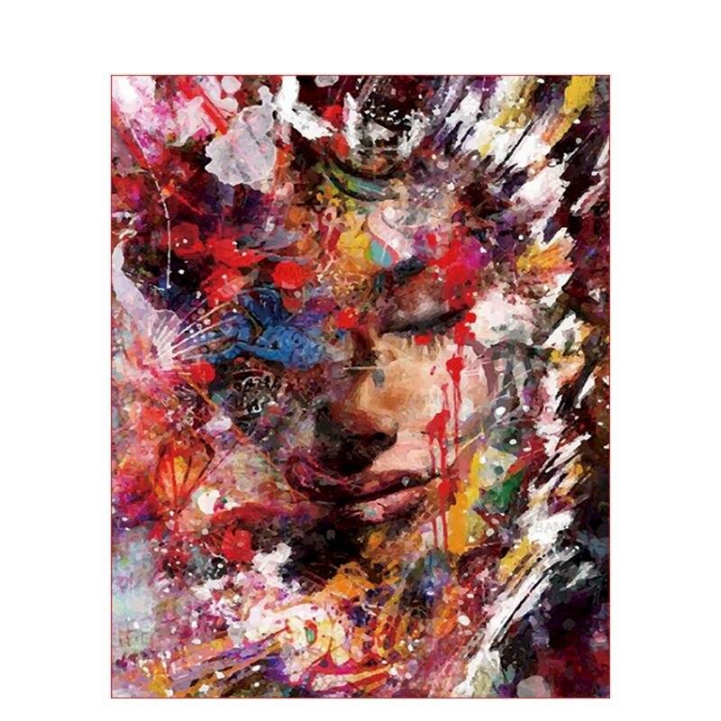 Европейская Женская картина маслом по номерам, современные наборы для рукоделия для взрослых, ручная роспись, рисунок, Раскраска по номерам...
